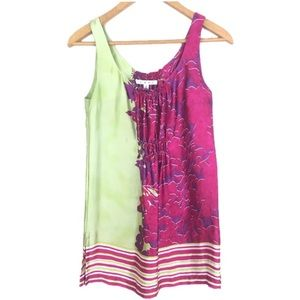 Cabi Silk Floral Sleeveless Tunic Top Small